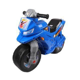 Двухколесный мотоцикл, синий