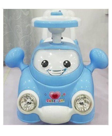 """Машина-каталка """"Малышок"""" (свет, звук), голубой"""
