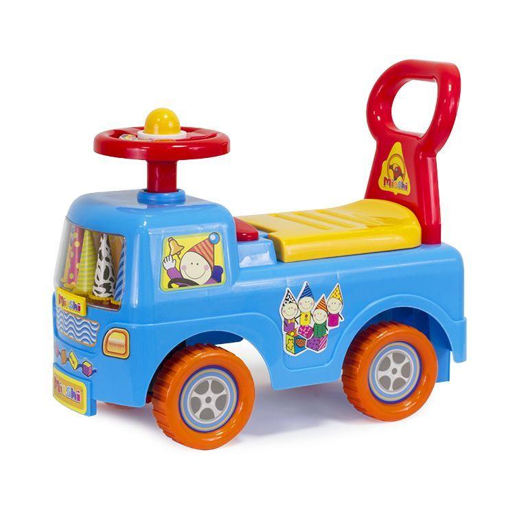 """Mioshi Автомобиль-каталка """"День рождения"""" (гудок, сиденье-багажник со спинкой, игровые элем.)"""