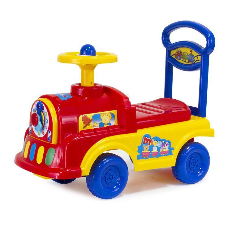 """Mioshi Автомобиль-каталка """"Паровозик"""" (гудок, сиденье-багажник со спинкой, игровые элем.)"""