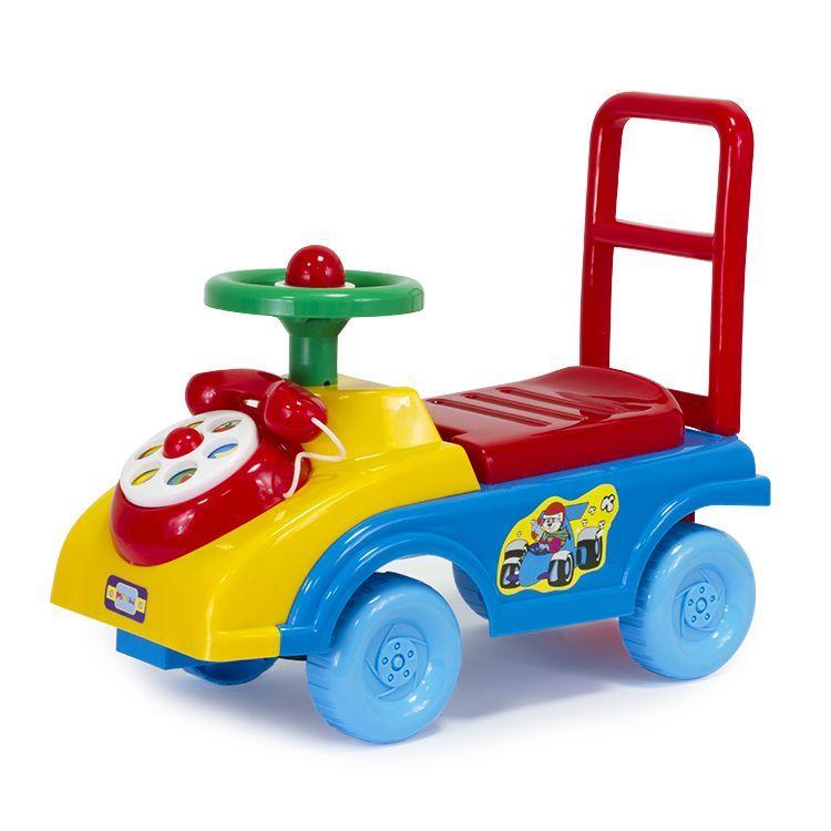 """Mioshi Автомобиль-каталка """"Телефончик"""" (гудок, сиденье-багажник со спинкой, игровые элем.)"""