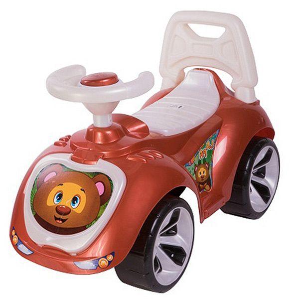 "Машинка-каталка ""Мишка"", коричневая"