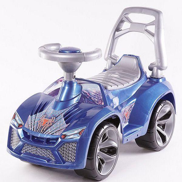 """Машинка-каталка """"Паук"""", синяя"""
