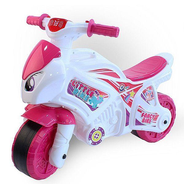 Мотоцикл 2-х колесный (свет, звук), розово-белый
