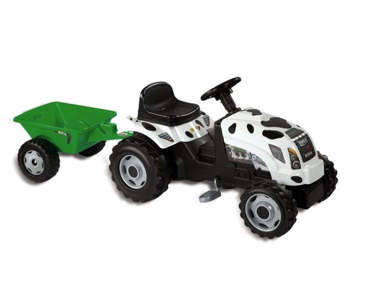 Детский трактор педальный с прицепом - GM Thme Vache