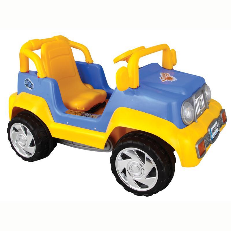 Педальная машина Thunder, сине-желтая