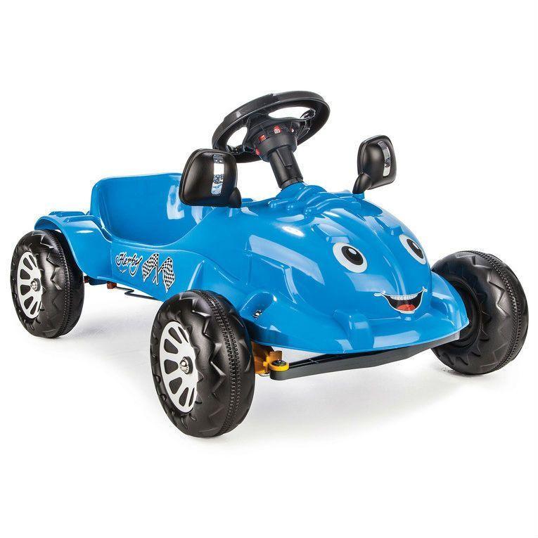 Педальная машина Herby с сигналом, синяя