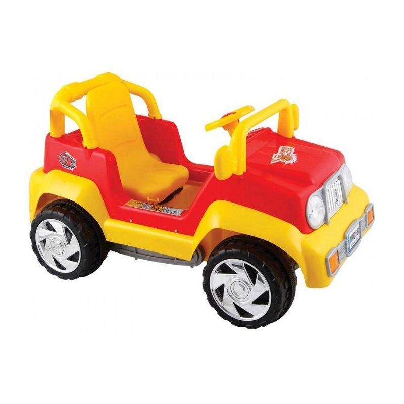 Педальная машина Thunder, красно-желтая