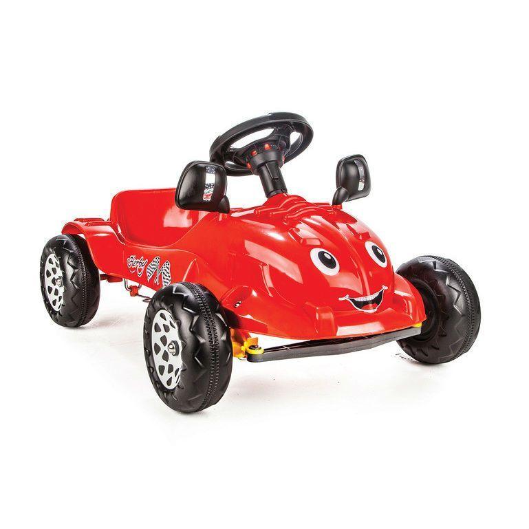 Педальная машина Herby с сигналом, красная