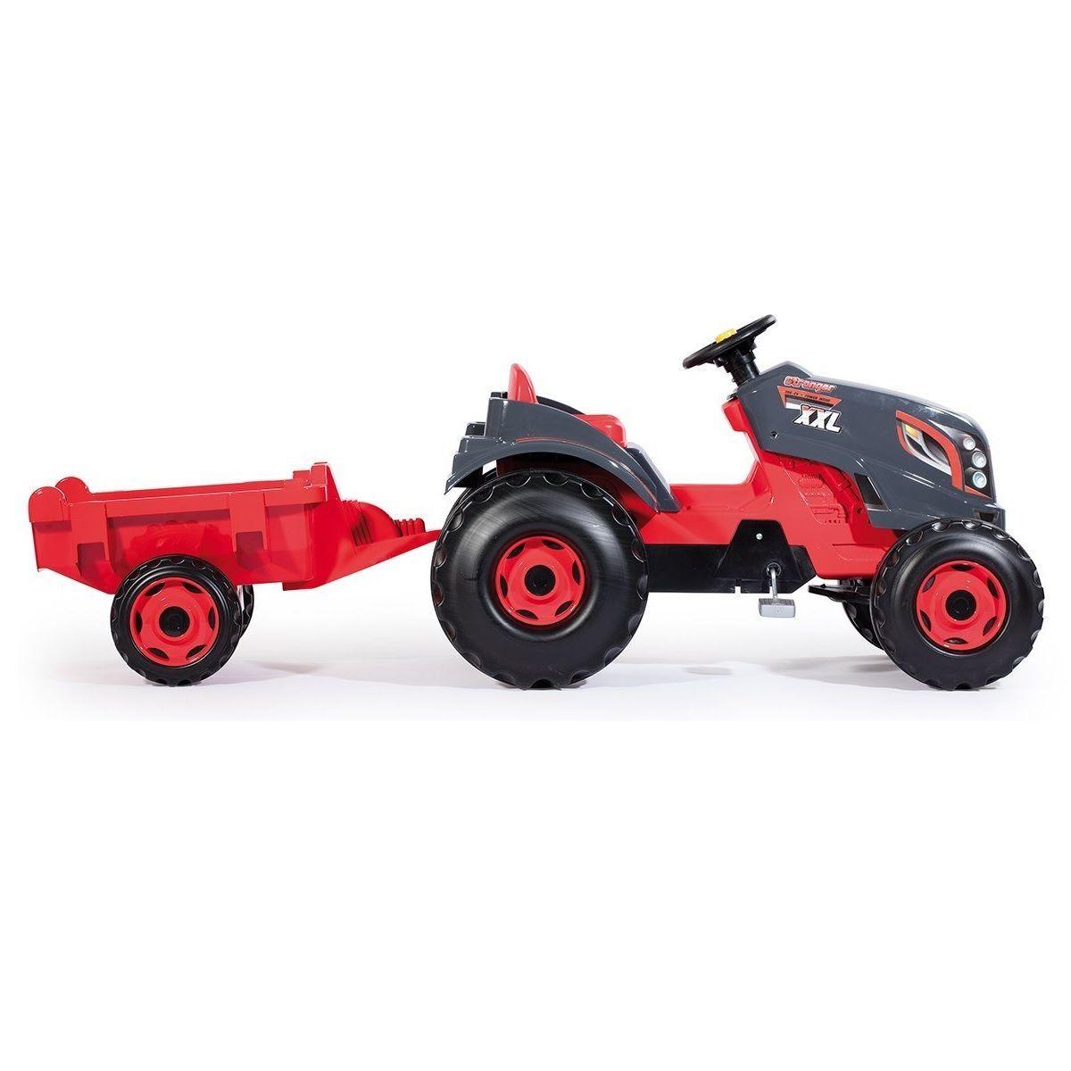 Педальный трактор Stronger XXL с прицепом