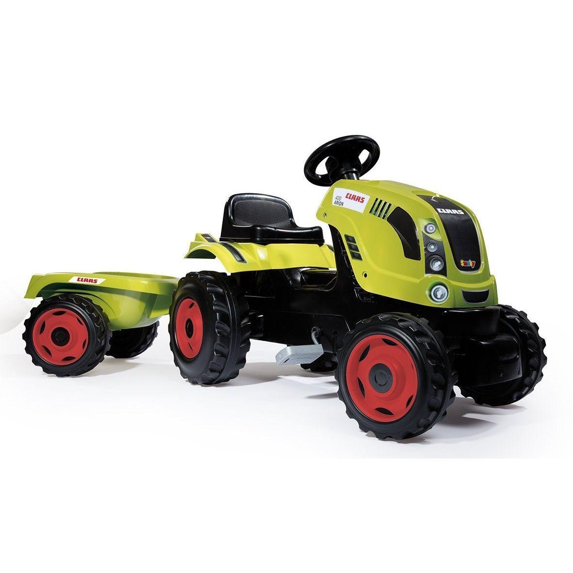 Педальный трактор Claas с прицепом, размер XL