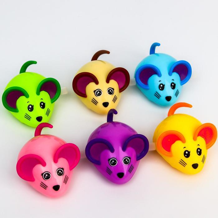 Заводная игрушка «Мышка», цвет в ассортименте