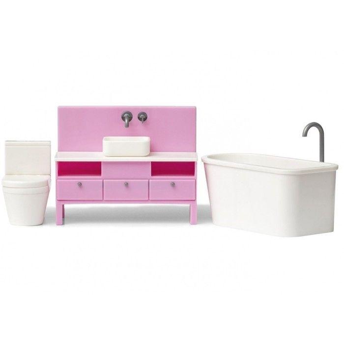 Игровой набор аксессуаров для кукольного домика «Базовый набор для ванной комнаты»