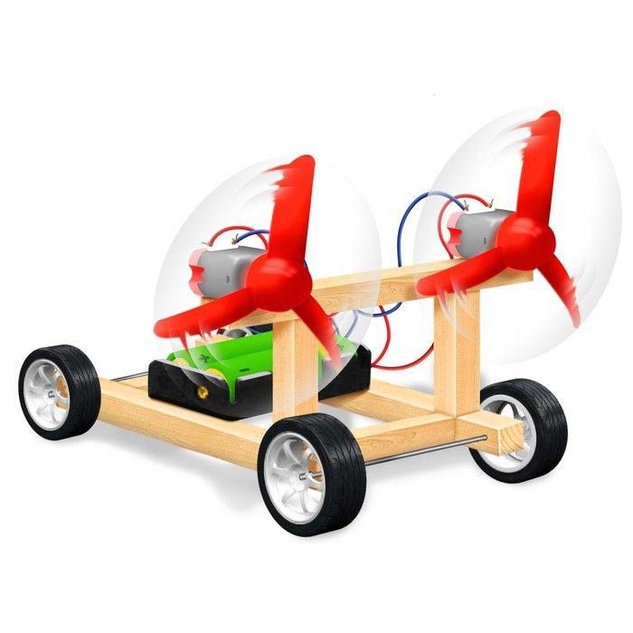 Набор для опытов «Аэромобиль», работает от батареек, в пакете