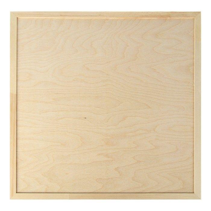 Планшет деревянный, с врезанной фанерой, 50 х 50 х 3,5 см, глубина 0.5 см, сосна