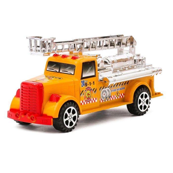 Машина пожарная под колпаком, цвета в ассортименте в ПАКЕТЕ