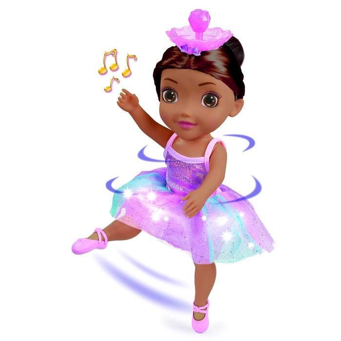 Кукла «Танцующая Балерина», тёмные волосы, свет/звук, 45см