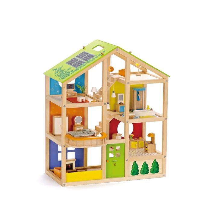 Кукольный дом для мини-кукол с мебелью, 33 предмета