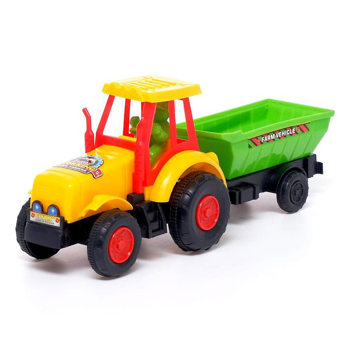 Трактор инерционный «Фермер» с прицепом, цвета в ассортименте