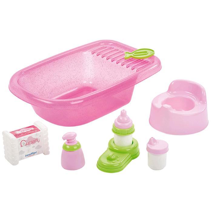 Детский набор по уходу за куклой с ванной и аксессуарами