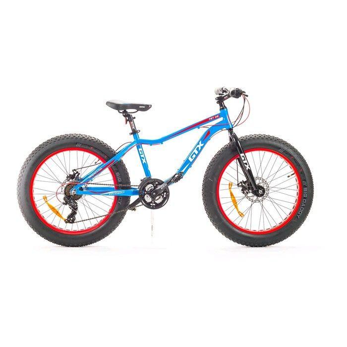 """Велосипед 24"""" GTX FAT 02, цвет голубой, размер 15"""""""