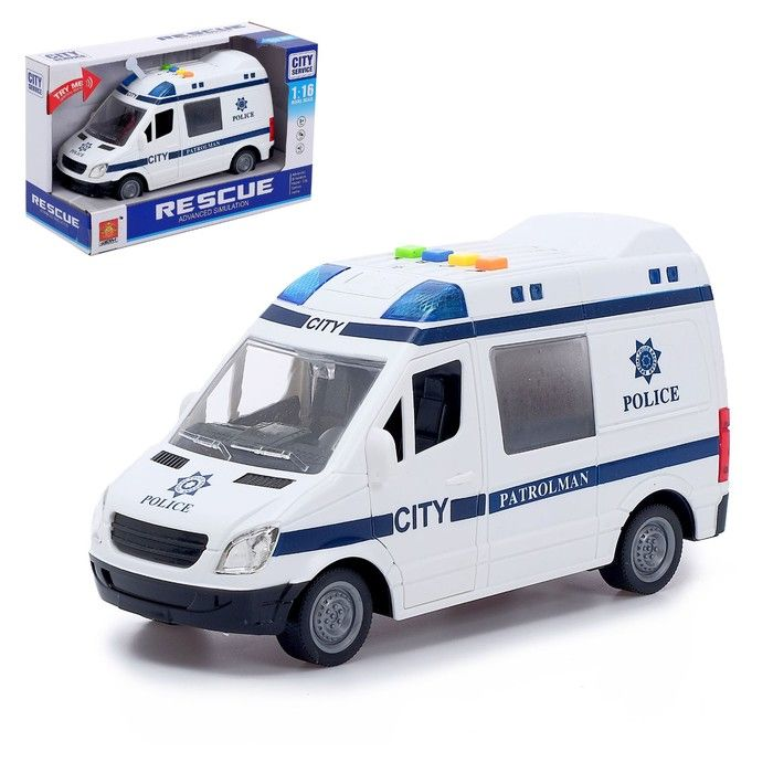 Машина инерционная «Полиция», световые и звуковые эффекты, 1:16