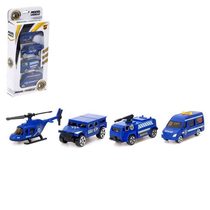 Набор машин «Полиция», 4 штуки