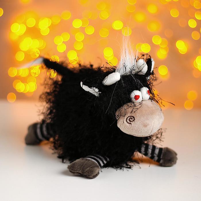 Мягкая игрушка «Бычок Крейзик», цвет чёрный