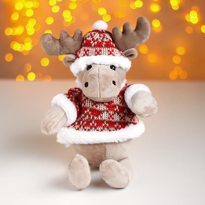 Мягкая игрушка «Лосик в зимнем наряде»