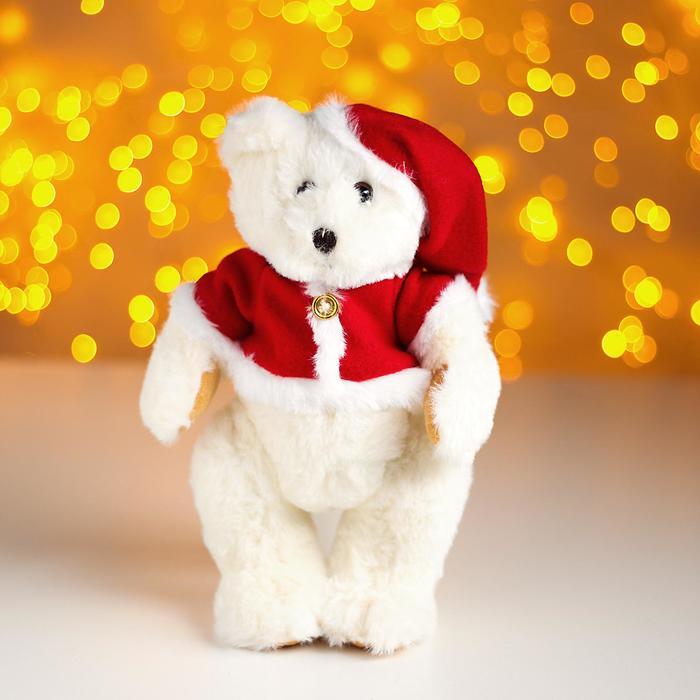 Мягкая игрушка «Мишка в костюме Деда Мороза»