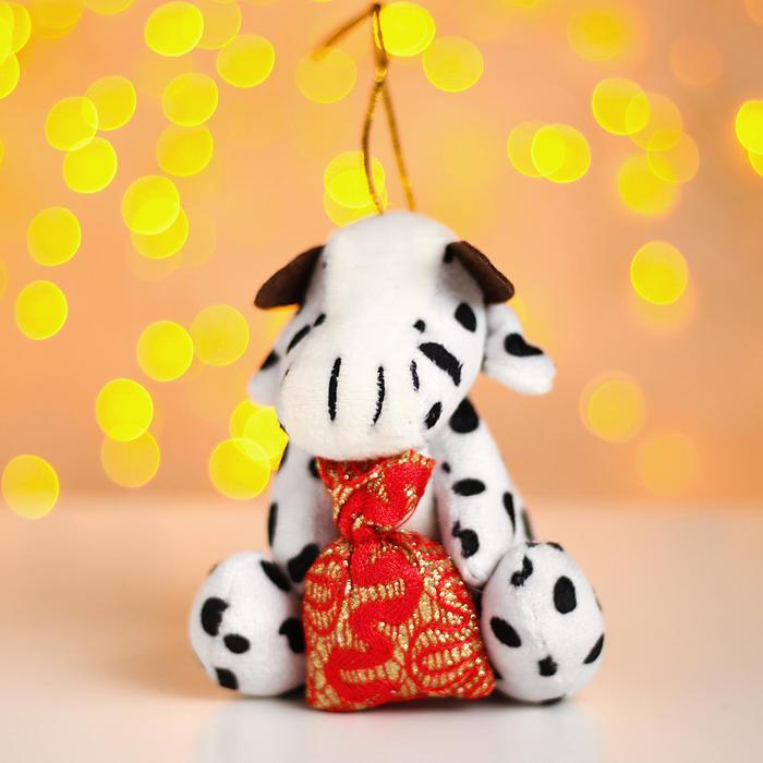 Мягкая игрушка «Коровка с подарком», на подвесе, цвета в ассортименте