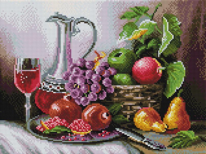 """Мозаика на подрамнике """"Натюрморт с фруктами"""""""