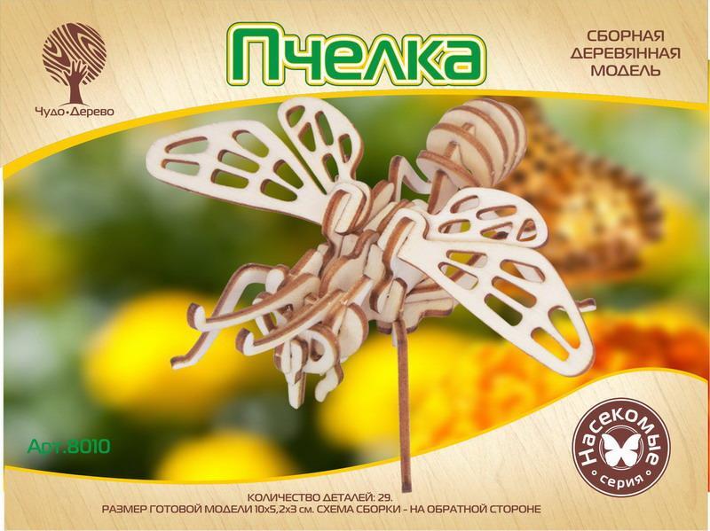 """Модель деревянная сборная """"Пчелка"""" Мини, 29 деталей, серия Насекомые, Чудо-дерево"""