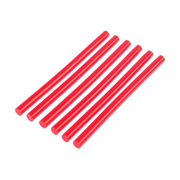 Клеевые стержни TUNDRA, 11 х 200 мм, красный, 6 шт.