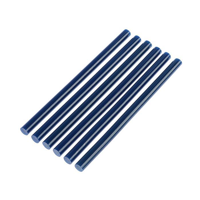 Клеевые стержни TUNDRA, 11 х 200 мм, синий, 6 шт.
