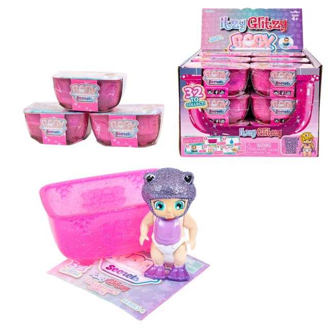 Игровой набор Baby Secrets, коллекционная куколка в ванной, серия Itzy Glitzy, 12 штук в ассортименте + 1 редкий