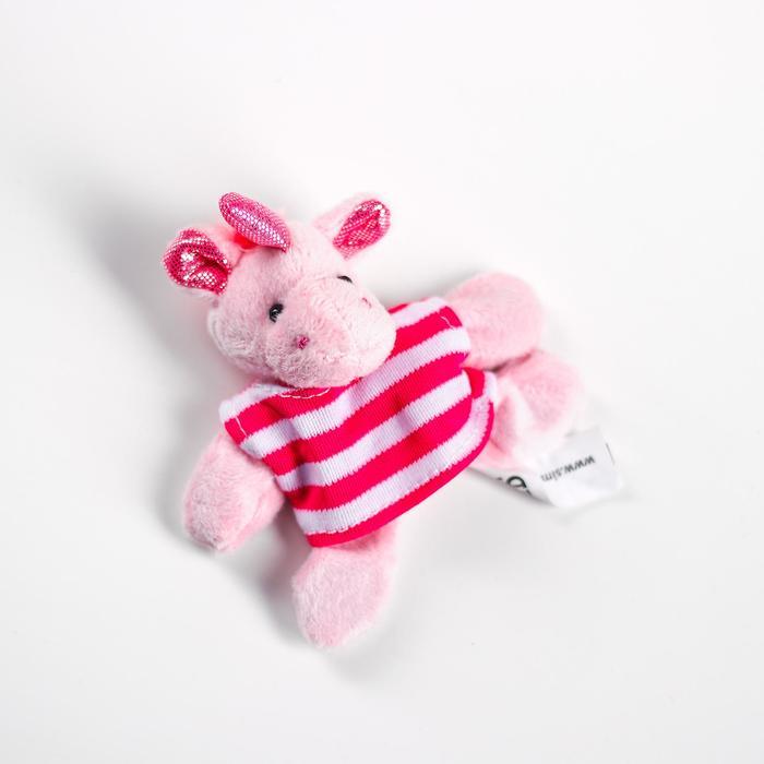 Мягкая игрушка «Единорог в футболке», с магнитом, цвета в ассортименте