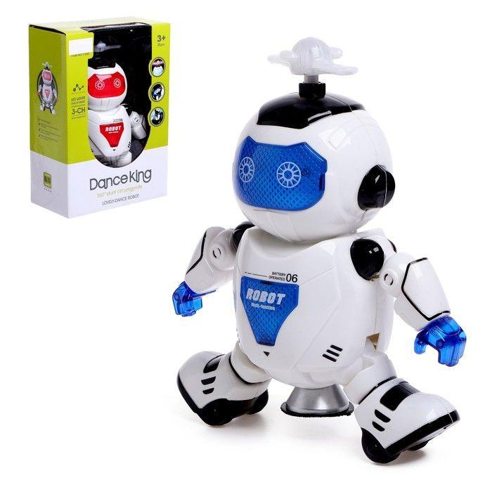 Робот «Космический герой», работает от батареек, световые и звуковые эффекты, цвета в ассортименте