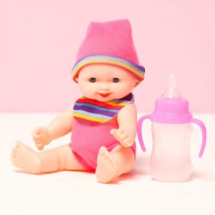 Пупс «Малыш» с бутылкой, в ассортименте