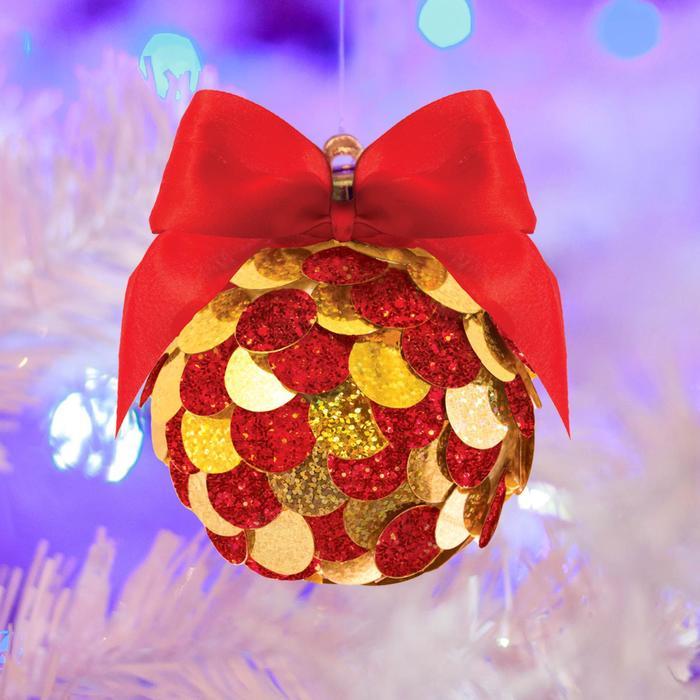 Набор для творчества. Создание новогоднего шара «С Новым годом!» с пайетками