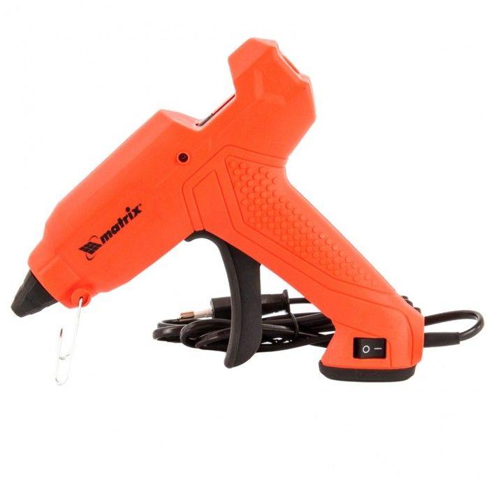 Пистолет клеевой MATRIX 93006, 11 мм, 160 Вт, 18 г/мин, выключатель и индикатор напряжения