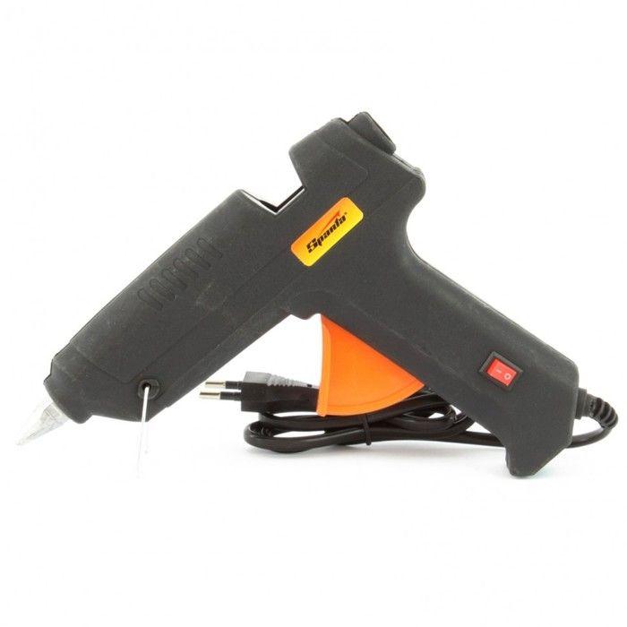 Пистолет клеевой SPARTA 93034, 12 мм, 100 Вт, 8 г/мин, в кейсе, с выключателем