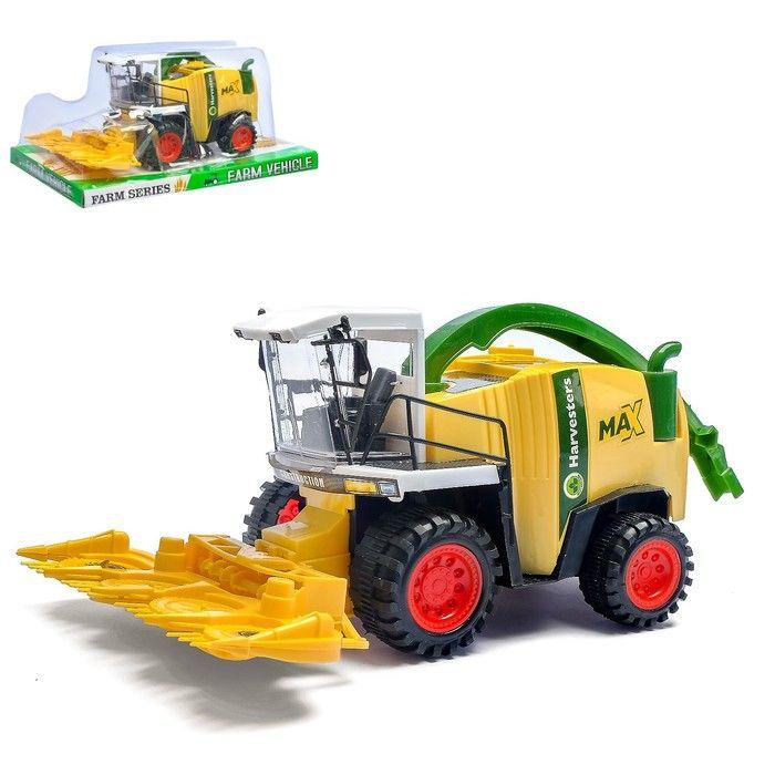 Трактор инерционный «Комбайн», цвета в ассортименте