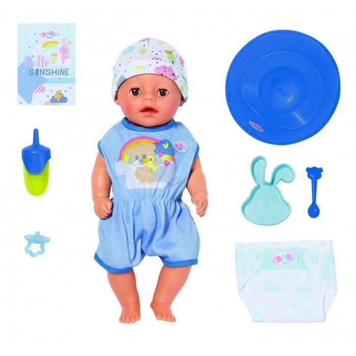 Кукла интерактивная Baby born Нежное прикосновение «Мальчик», 36 см 827-338