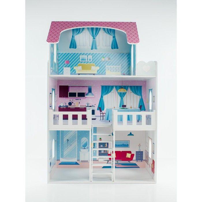 Кукольный дом «Валери Шарм», с интерьером и мебелью, 6 предметов