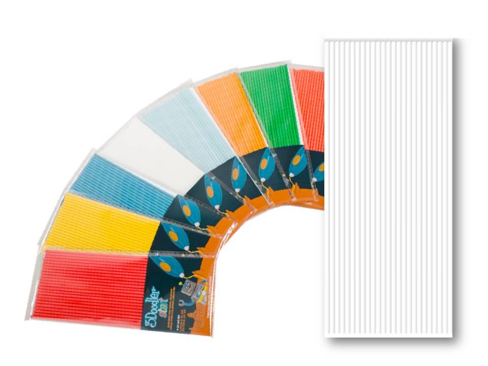 Эко-пластик к 3Д ручке 3DOODLER START, цвет белый, 24 шт.