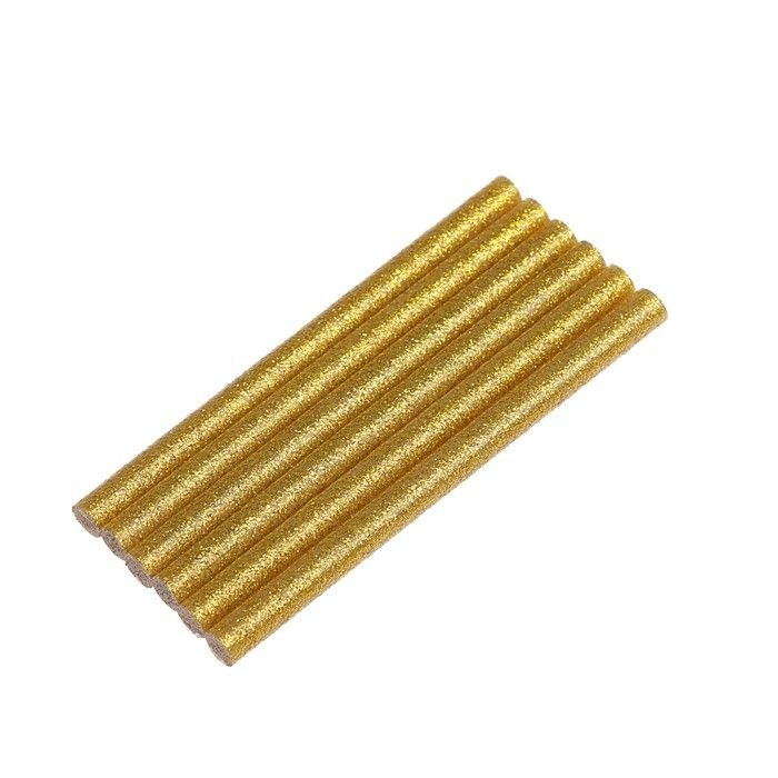 Стержни клеевые TOPEX 42E181, золотые с блестками, 8x100 мм , 6 шт.