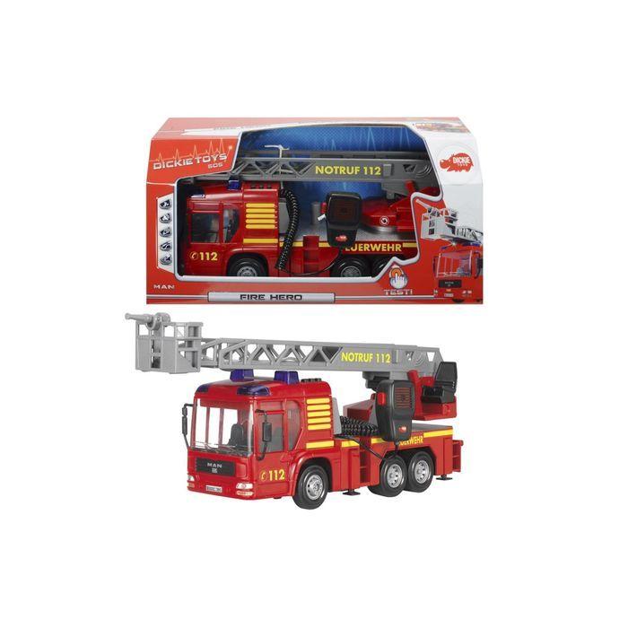 Пожарная машина MAN с рацией, 30 см