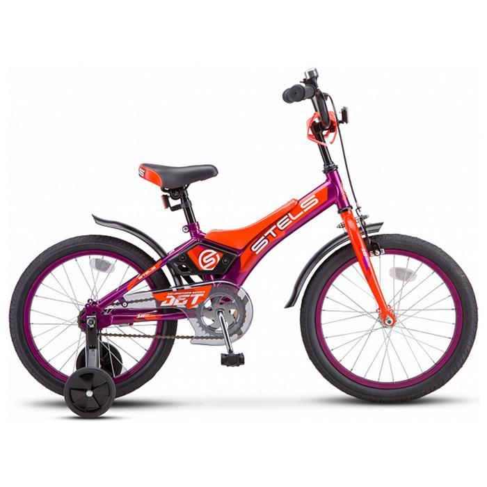 """Велосипед 18"""" Stels Jet, Z010, цвет фиолетовый/оранжевый"""