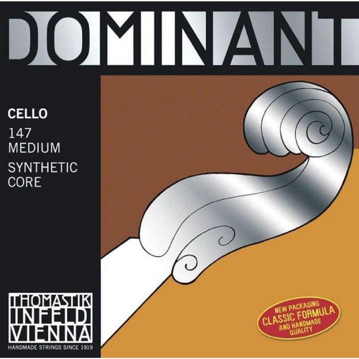 Комплект струн для виолончели Thomastik 147 Dominant размером 4/4, среднее натяжение